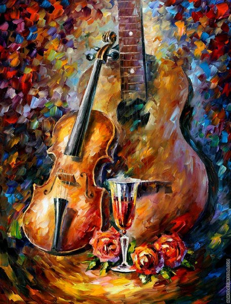 Guitare et Violon (Afremov)