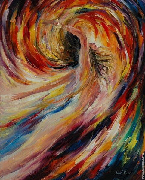 In the vortex of passion (Afremov)
