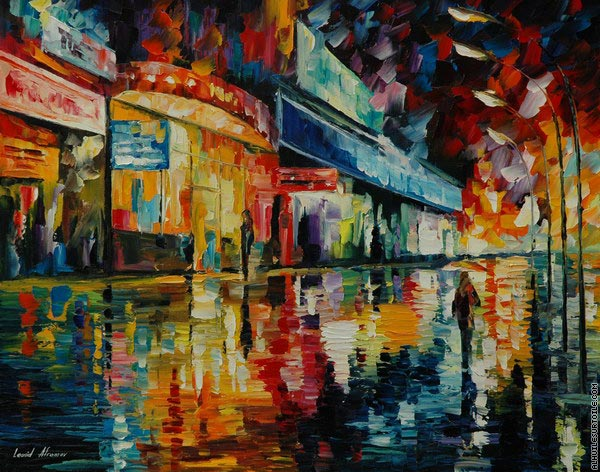 Loneliness in the city (Afremov)