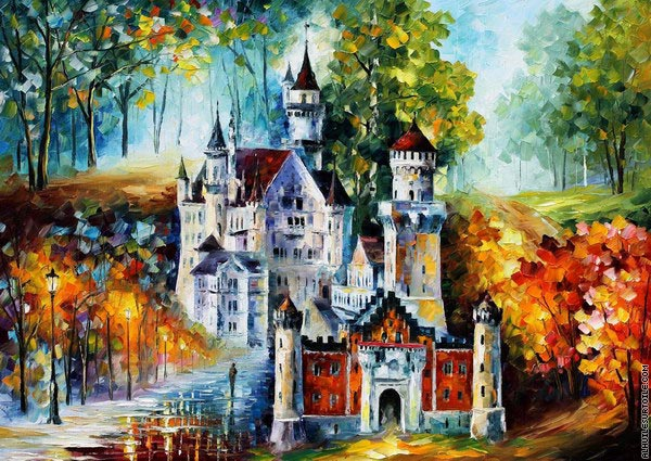 Magical castle (Afremov)