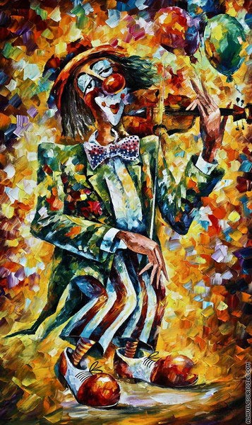 Musical clown (Afremov)