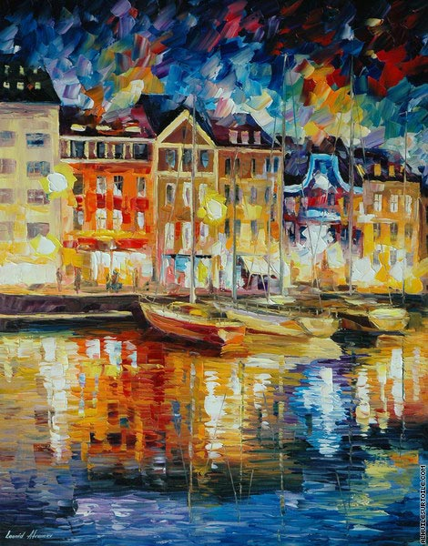 Night city (Afremov)