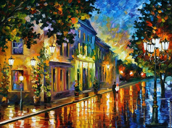 On the way to morning (Afremov)