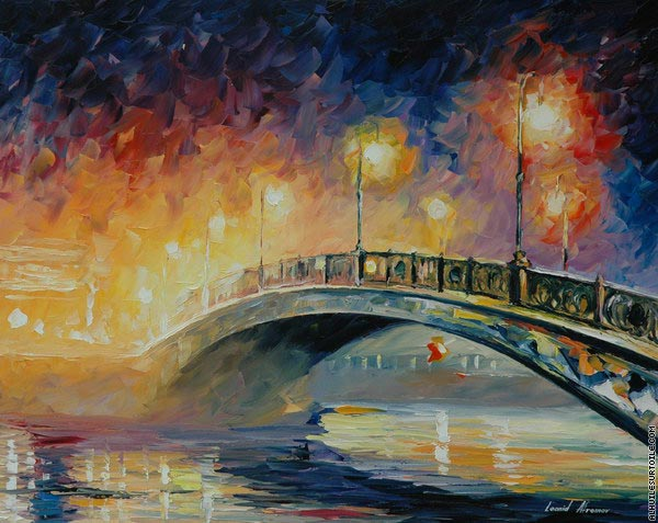 Over the bridge (Afremov)