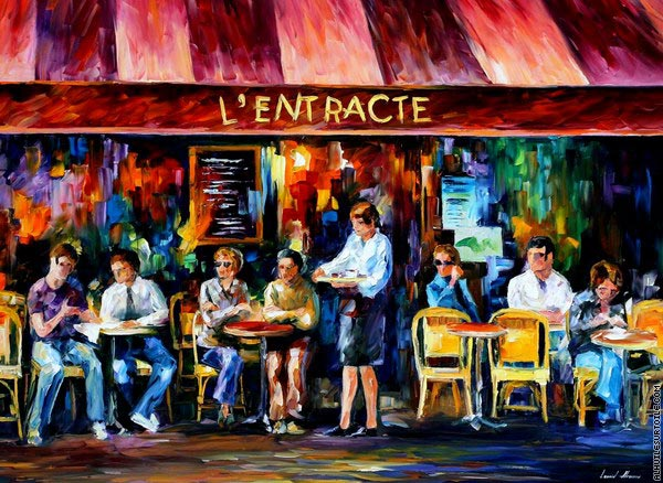 Paris - Café 1 (Afremov)