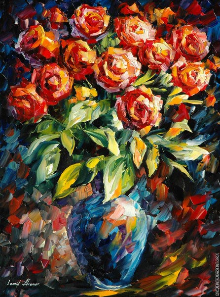 Roses rouges (Afremov)