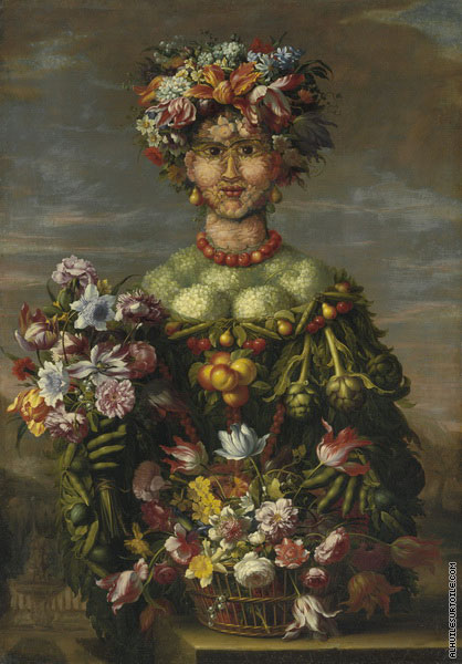 Anthropomorphisme - Allégorie du Printemps (Arcimboldo)