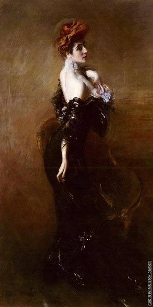 Portrait de Madame Pages en robe du soir (Boldini)