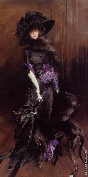 Portrait of the Marchesa Luisa Casati with a Greyhound (Boldini)