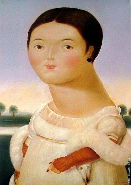 Mademoiselle Riviere I (Botero)