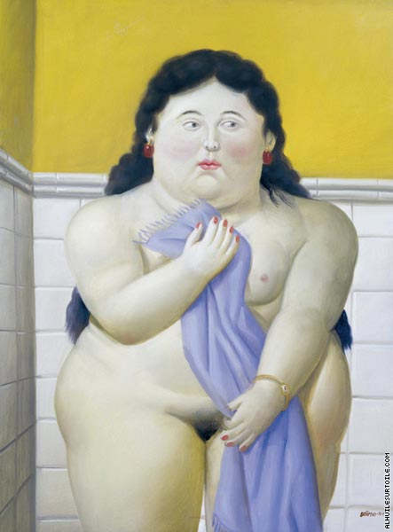 Woman in the bath (Botero)