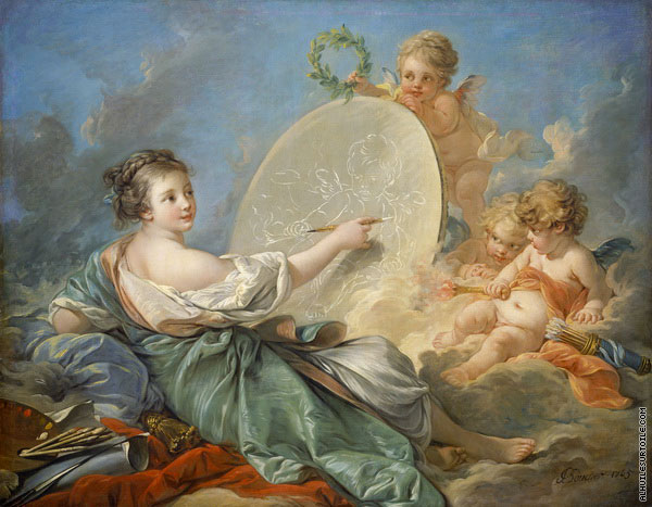 Allegory of Painting (Boucher)