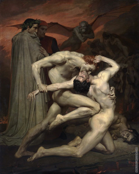 Dante et Virgil en enfer (Bouguereau)