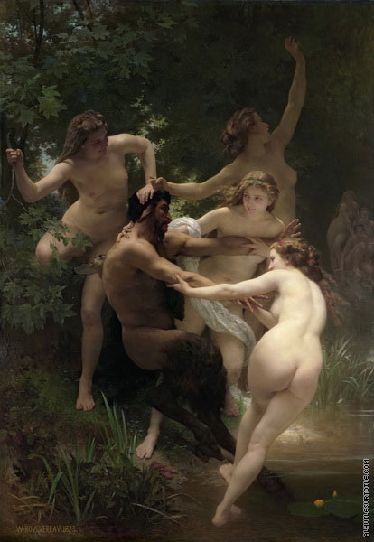 Nymphs and the Satyr (Bouguereau)