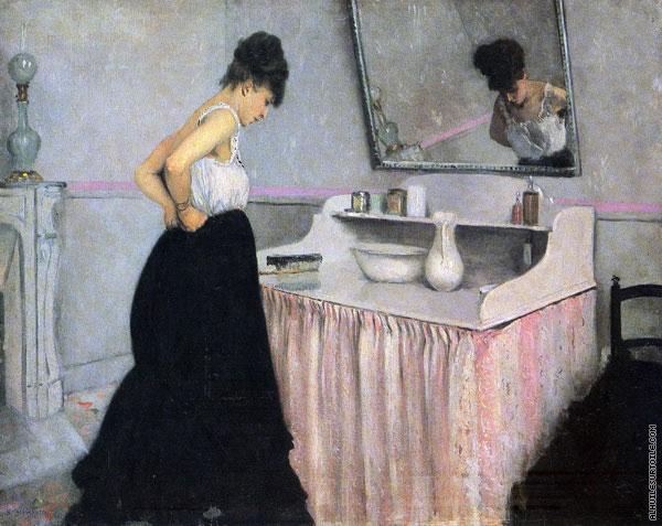 Reproduction du tableau Femme à sa Toilette (Caillebotte)