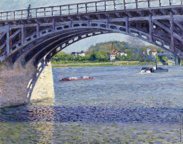 The Argenteuil Bridge and the Seine (Caillebotte)
