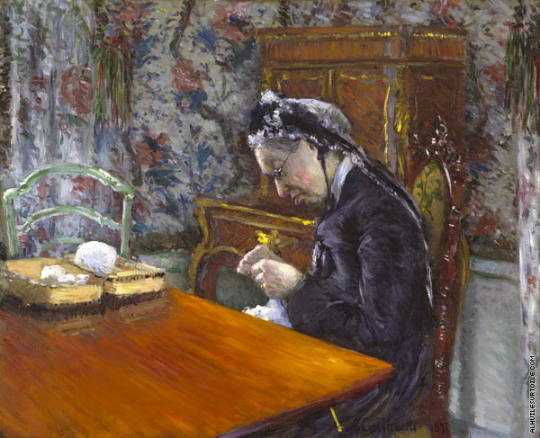 Mademoiselle Boissière Knitting (Caillebotte)