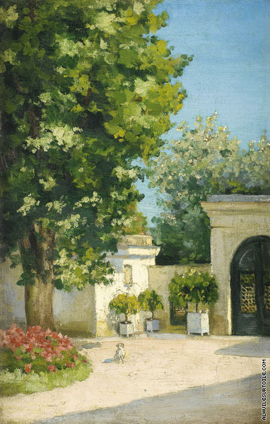 Yerres - Exedra - The Porch of the Family Home (Caillebotte)