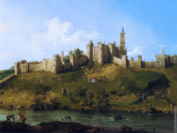 Château d'Alnwick à Northumberland (Canaletto)