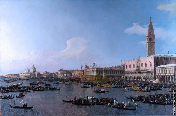Le bassin de Saint-Marc le jour de l'Ascension - Venise (Canaletto)