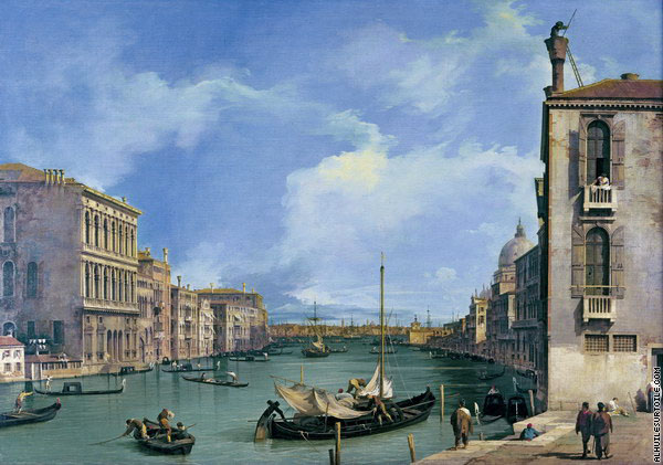 Le Grand Canal depuis San Vio 3 (Canaletto)