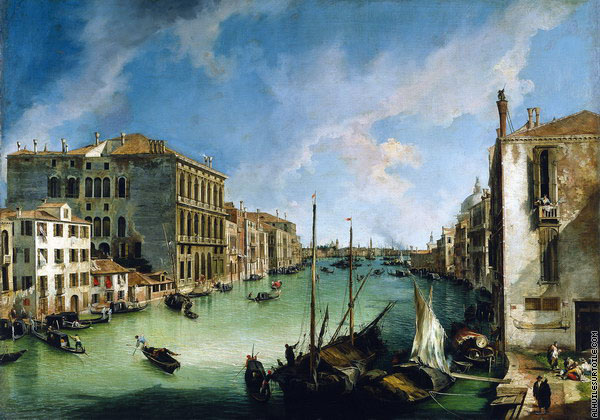 Le Grand Canal depuis San Vio 1 (Canaletto)