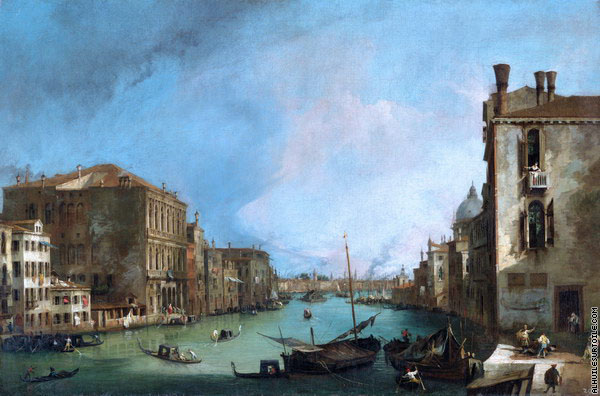 Le Grand Canal depuis San Vio 2 (Canaletto)