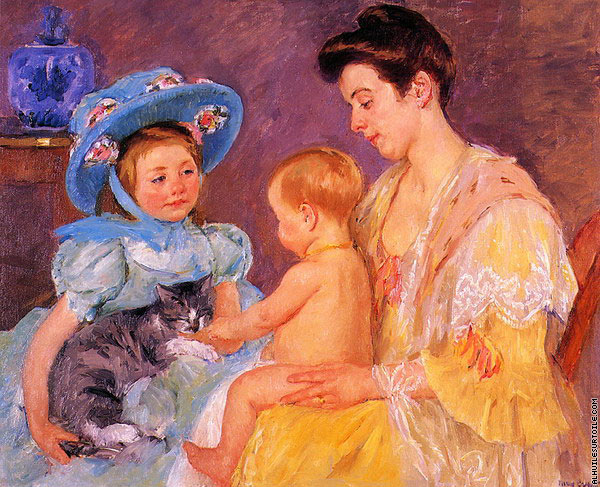 Children Playing with a Cat (Cassatt)