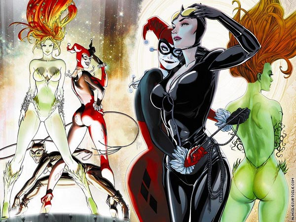 Harley Quinn - Catwoman - Poison Ivy (DC Comics)