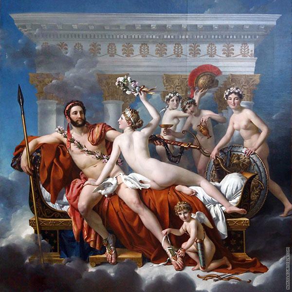 Reproduction Du Tableau Mars Desarme Par Venus David