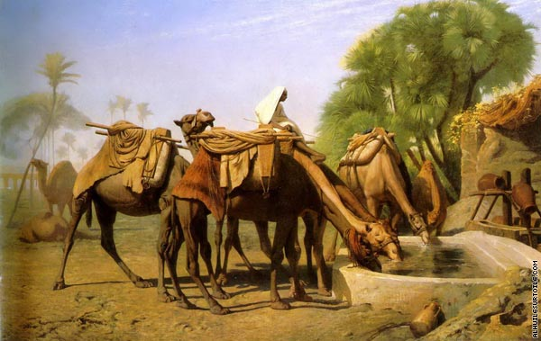 Camels at the trough (Gerome)