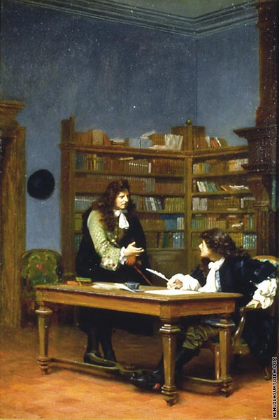 La Fontaine and Moliere (Gerome)