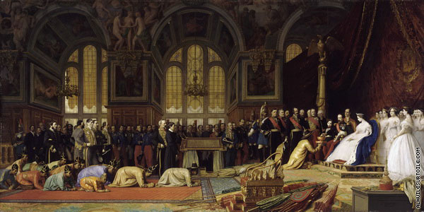 Napoleon III receiving the Siamese embassy at the palace of Fontainebleau (Gerome)