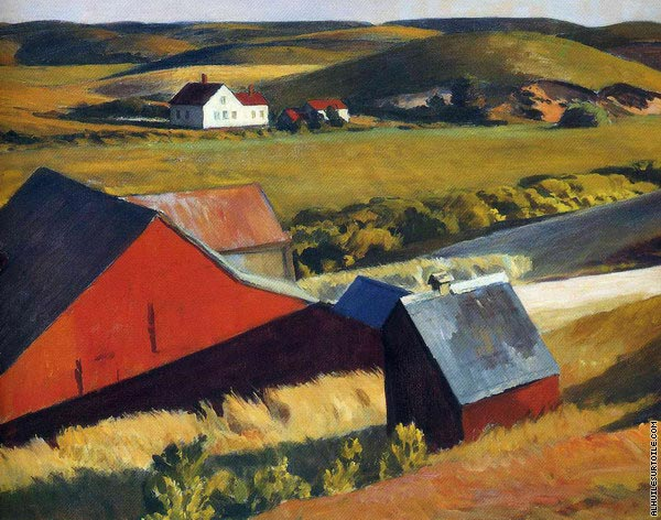 Cobbs Barns and Distant Houses (Hopper)