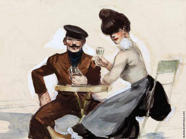 Couple Drinking (Hopper)