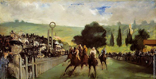 Courses à Longchamp (Manet)