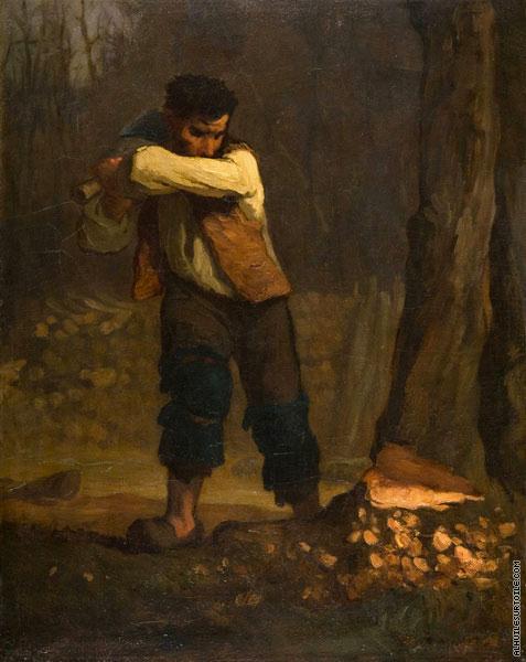 Reproduction du tableau Bûcheron (Millet)