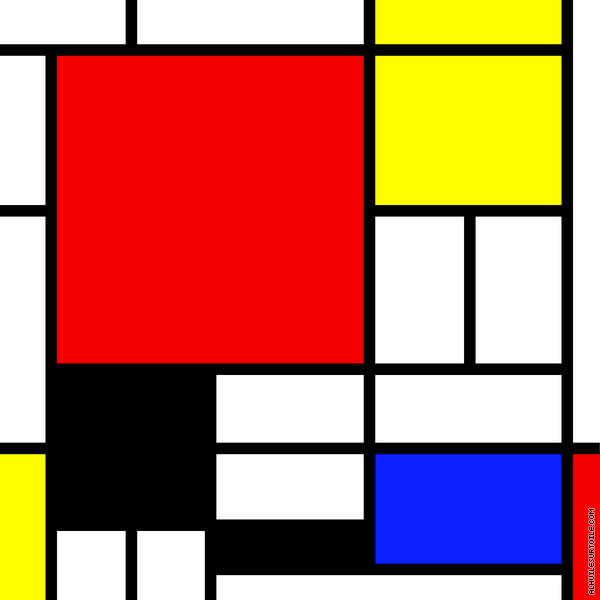 Composition 01 (Mondrian)