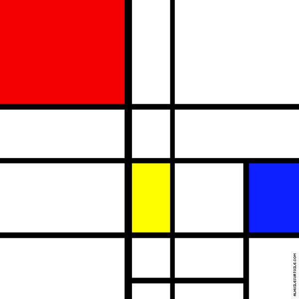 Composition 10 (Mondrian)