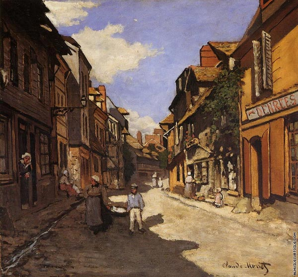 The Bavolle street at Honfleur (Monet)
