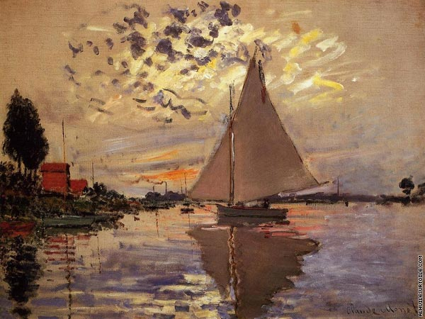 Sailboat at Le Petit-Gennevilliers (Monet)