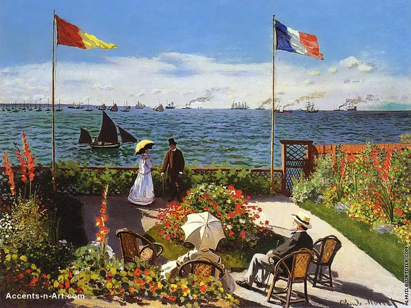 Terrace at Sainte Adresse (Monet)