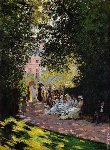 Le Parc Monceau à Paris (Monet)