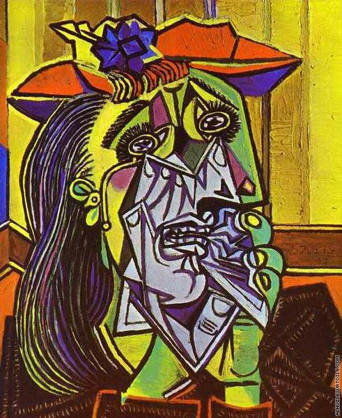 omphale_Reproduction du tableau La femme qui pleure (Picasso)