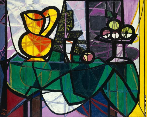 Pichet et coupe de fruits (Picasso)