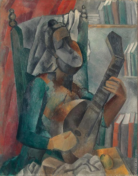 Woman playing the Mandoline (Picasso)