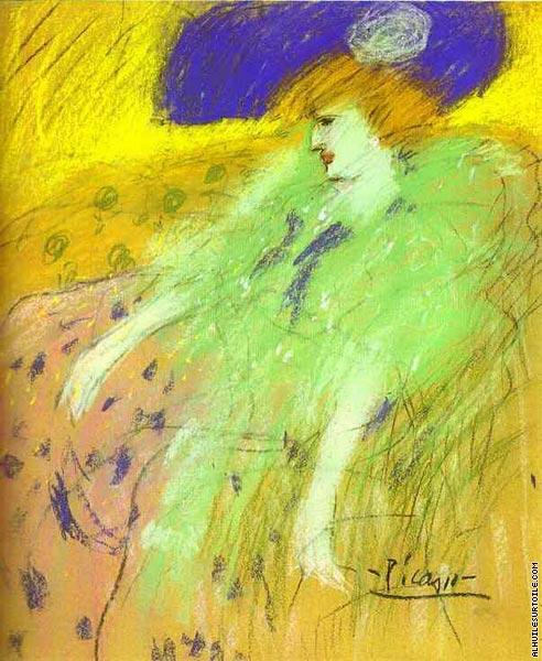 Reproduction du tableau La Femme au chapeau bleu (Picasso)