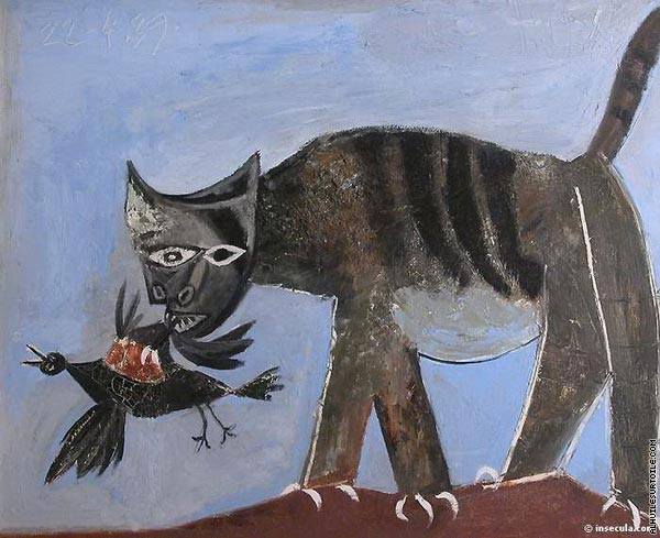 Wounded Bird and Cat (Picasso)