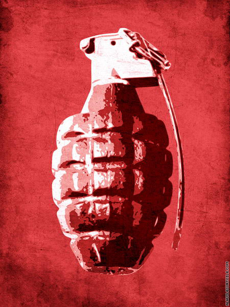 Grenade à main (Pop Art)