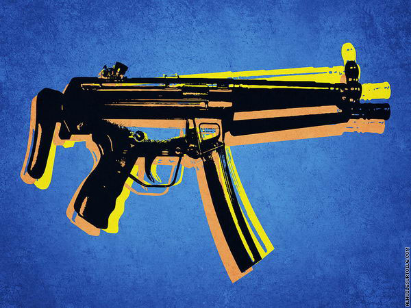 Mitraillette MP5 (Pop Art)